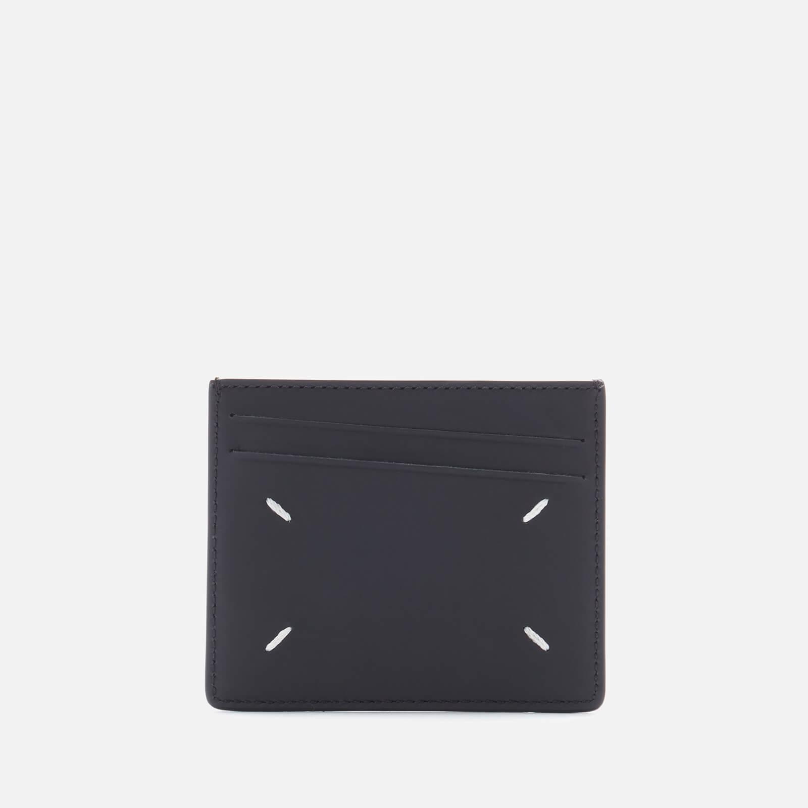 Maison Margiela Men's Leather Credit Card Case - Brown