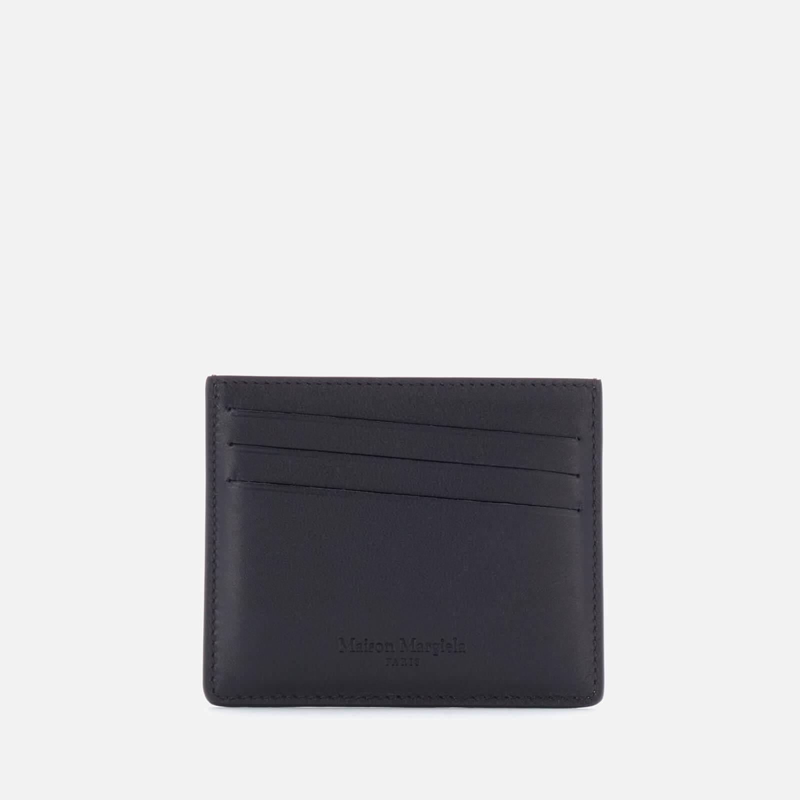 Maison Margiela Men's Leather Credit Card Case - Black