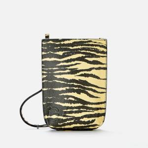 Ganni Women's Recycled Leather Small Cross Body Bag - Pale Banana