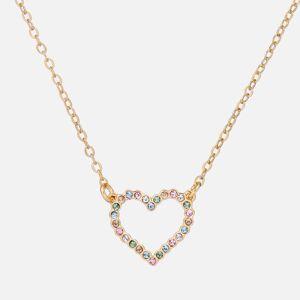 Ted Baker Women's Lendra: Crystal Heart Pendant - Gold Tone/Pastel Multi