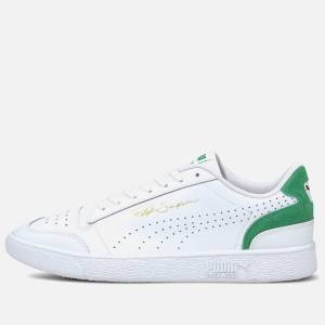Puma Men's Ralph Sampson Lo Perforated Colourblock Trainers - Puma White/Amazon Green - UK 9