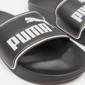 Puma Men's Leadcat Slide Sandals - Puma Black/Puma Team Gold/Puma White - UK 8