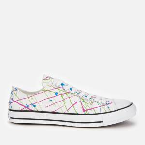 Converse Men's Chuck Taylor All Star Archive Paint Splatter Print Ox Trainers - White - UK 10