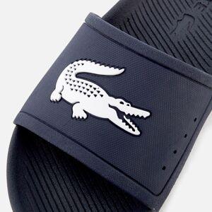 Lacoste Men's Croco Slide 119 1 Sandals - Navy/White - UK 10 - Navy/White