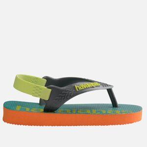 Havaianas Toddlers' Logomania Flip Flops - Begonia Orange - UK 8 Toddler