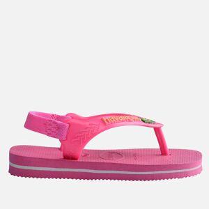 Havaianas Toddlers' Brasil Logo II Flip Flops - Pink Flux - UK 6 Toddler