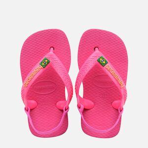 Havaianas Toddlers' Brasil Logo II Flip Flops - Pink Flux - UK 7 Toddler