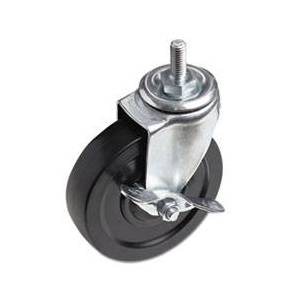 Optional Casters For Wire Shelving, 125 lbs./Caster, Black, 4/Set
