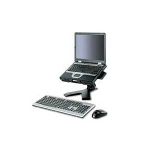 3M Easy Adjust Notebook Riser, 10 1/2 x 12 1/4 x 4 to 8, Black