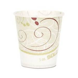 SOLO Cup Company Paper Water Cups, Waxed, 5oz, 100/Bag, 30 Bags/Carton