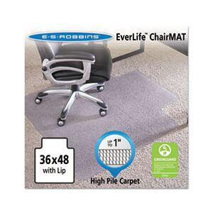 "ES Robbins 36x48 Lip Chair Mat, Performance Series AnchorBar for Carpet up to 1"""