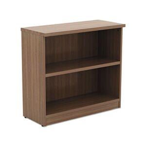 Alera Valencia Series Bookcase,Two-Shelf, 31 3/4w x 14d x 29 1/2h, Modern Walnut