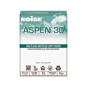 Boise ASPEN 30% Recycled Multi-Use Paper, 92 Bright, 20lb, 11 x 17, White, 2500/CT
