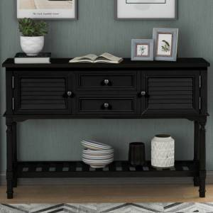 """Geekbuying U-STYLE 47"""" Modern Style Wooden Console Table Black"""