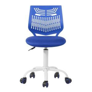 Geekbuying Home Office Plastic Mesh Rotatable Chair Height Adjustable with Ergonomic Middle Backrest and Casters - Navy