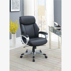 Geekbuying Modern Leisure PU Swivel Chair Height Adjustable Black