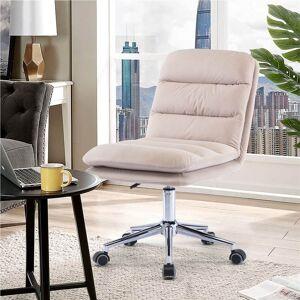 Geekbuying COOLMORE Modern Leisure Velvet Swivel Chair Beige