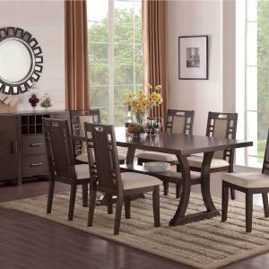 Geekbuying Upholstered Dining Chair Set of 2, with High Backrest, and Wooden Legs, for Restaurant, Cafe, Tavern, Office, Living Room - Gray