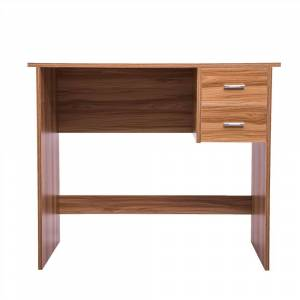 Geekbuying Home Office Computer Desk with 2 Pull-Out Storage Drawers and Stable Wooden Frame, for Game Room, Study Room, Small Space - Oak