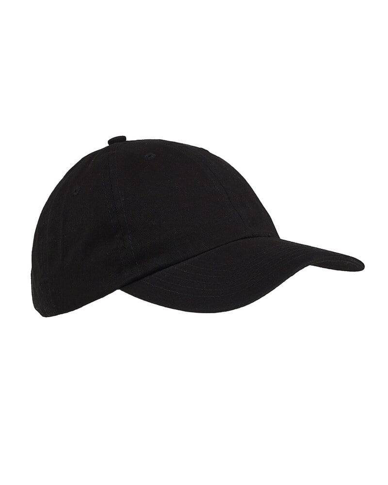 Big Accessories Youth 6-Panel Brushed Twill Unstructured Cap Black - Big Accessories BX001Y - Size OS