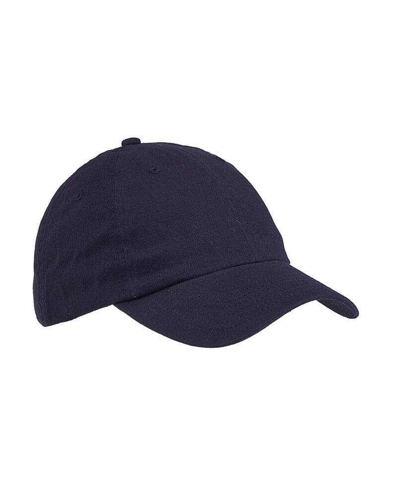 Big Accessories Youth 6-Panel Brushed Twill Unstructured Cap Navy - Big Accessories BX001Y - Size OS