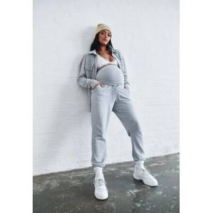 Missguided Recycled Gray Marl 90S Maternity Joggers  - Grey - Size: US 4