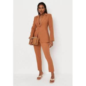 Missguided Tall Camel Tailored Cigarette Pants  - Camel - Size: US 6