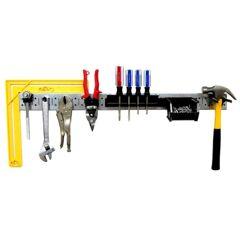 Wall Control Tool Organizer Pegboard Strip Kit, Metallic/Black