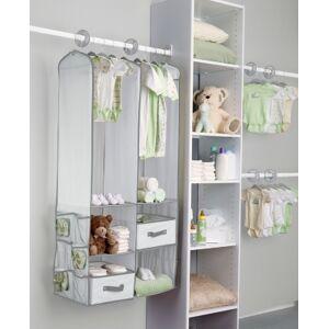 Ashley Furniture Delta Children 24-piece Nursery Storage Set, Dove Gray
