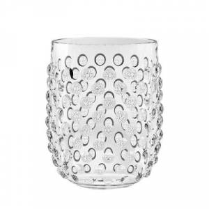 Ashley Furniture Tarhong 15 oz. Hobnail Stemless Acrylic Glass (Set of 6), Clear