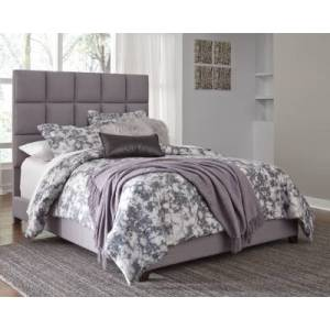 """Ashley Furniture Dolante Queen Upholstered Bed with 12"""" Hybrid Mattress in a Box"""