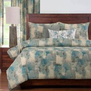 Ashley Furniture PoloGear Calcutta Teal 6 Piece Queen Luxury Duvet Set, Medium Blue