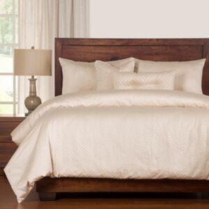 Ashley Furniture Siscovers Celeste 6 Piece Queen Luxury Duvet Set, Light Beige
