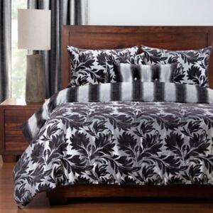 Ashley Furniture Siscovers Ciro 6 Piece Queen Luxury Duvet Set, Silver