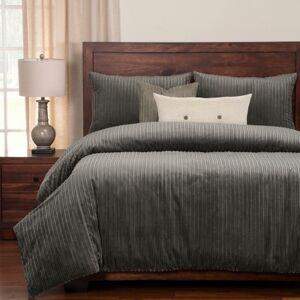 Ashley Furniture Siscovers Downy Storm 6 Piece King Luxury Duvet Set, Medium Gray