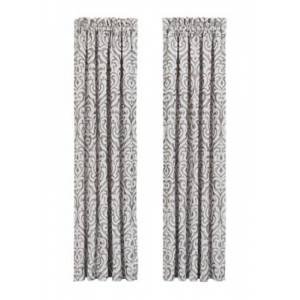 """Ashley Furniture J.Queen New York Luxembourg - Silver 84"""" Window Panel Pair, Silver"""