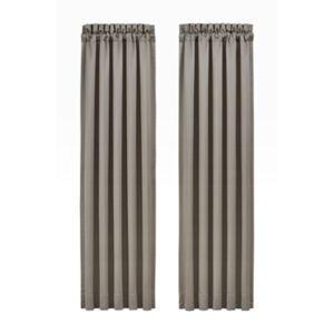 "Ashley Furniture J.Queen New York Crestview 84"" Window Panel Pair, Silver"