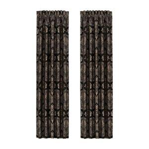 "Ashley Furniture J. Queen New York New York Windham 84"" Window Panel Pair, Black"