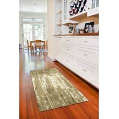 """Ashley Furniture Home Accents FoFlor 2'1"""" x 5' Barnboard Accent Runner, Beige"""