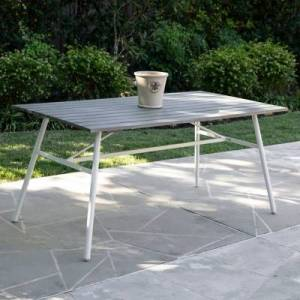 Ashley Furniture Southern Enterprises Greg Indoor/Outdoor Rectangular Dining Table, Gray