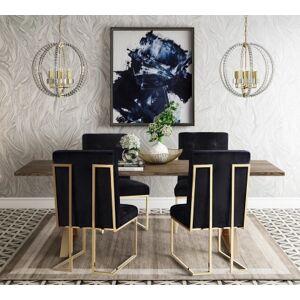 Ashley Furniture Akiko Black Velvet Chair, Black/Gray
