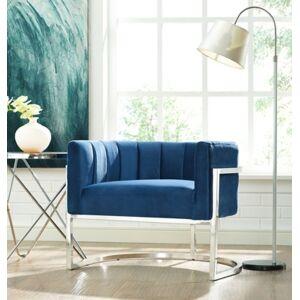 Ashley Furniture Magnolia Sea Blue Chair with Gold Base, Blue