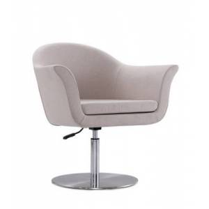 Ashley Furniture Manhattan Comfort Voyager Accent Chair, Barley/Brushed Metal