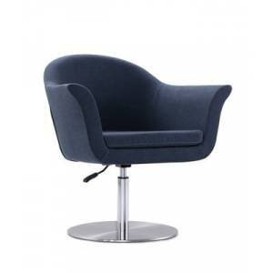 Ashley Furniture Manhattan Comfort Voyager Accent Chair, Blue/Brushed Metal