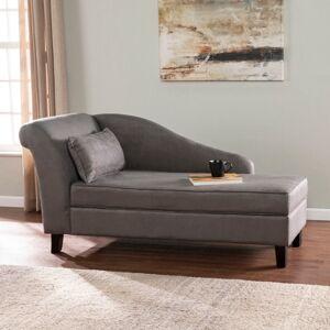 Ashley Furniture Southern Enterprises Meyson Chaise Lounge with Storage, Gray