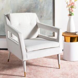 Ashley Furniture Safavieh Mara Tufted Accent Chair, Silver/Gold