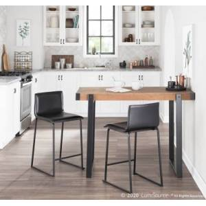 Ashley Furniture Odessa Counter Height Dining Table, Black/Brown