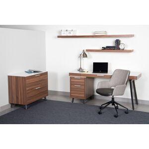 Ashley Furniture Euro Style Desi Tilt Office Chair Leather, Dark Gray