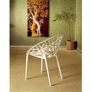 Ashley Furniture Siesta Outdoor Crystal Modern Dining Chair Glossy White (Set of 2), Glossy White