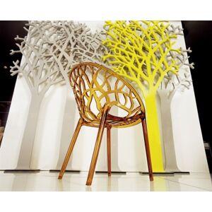Ashley Furniture Siesta Outdoor Crystal Modern Dining Chair Transparent Amber (Set of 2), Transparent Amber